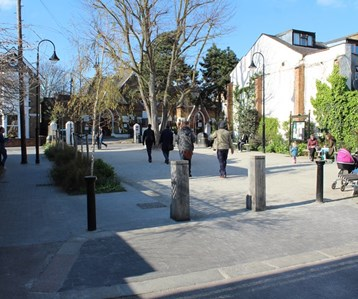 A pedestrianised, accessible area - used as an exemplary case of good place-making